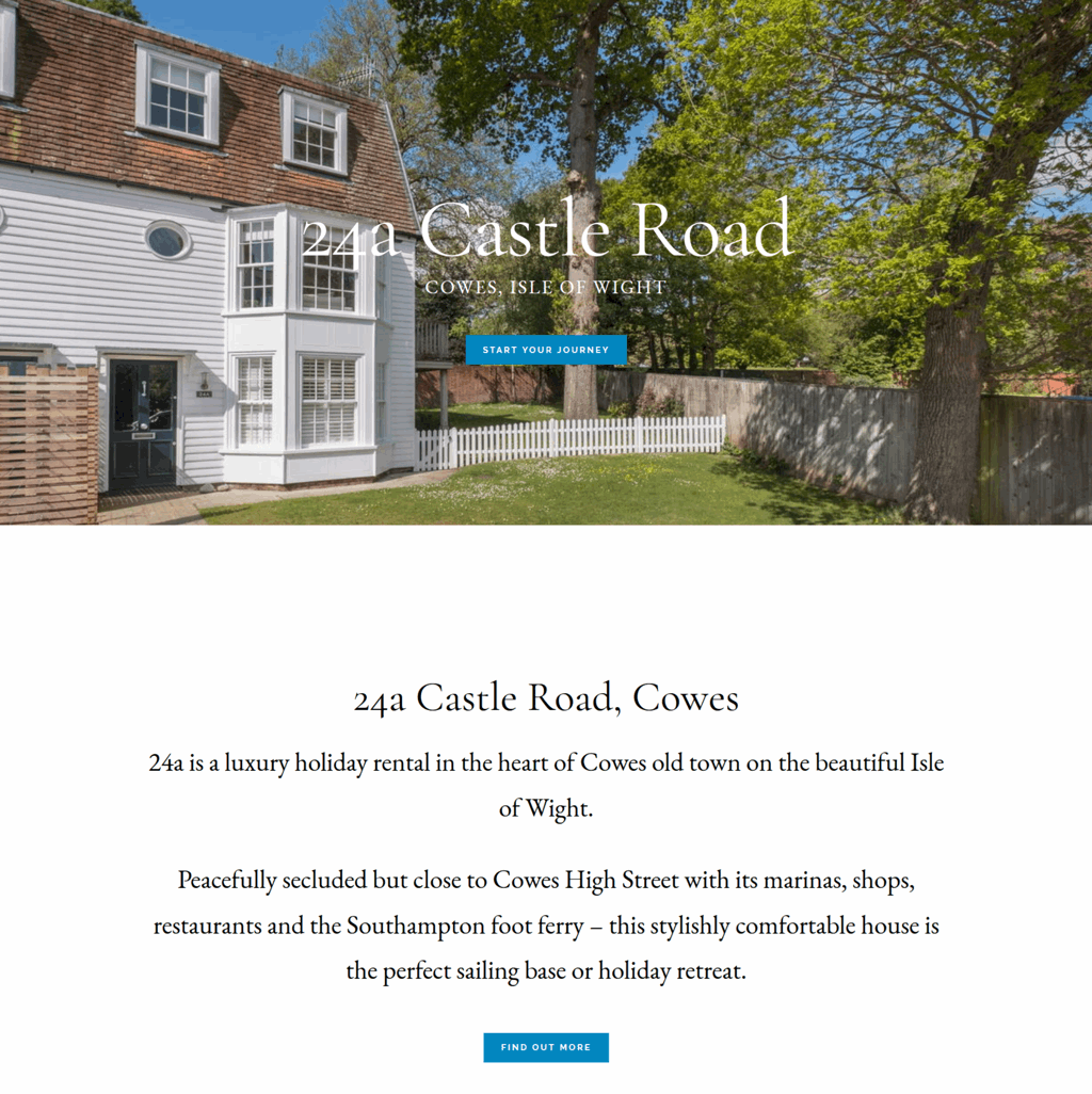 24a Castle Rd, Cowes, holiday home website