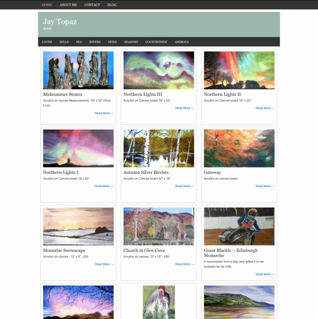 jay topaz website screenshot