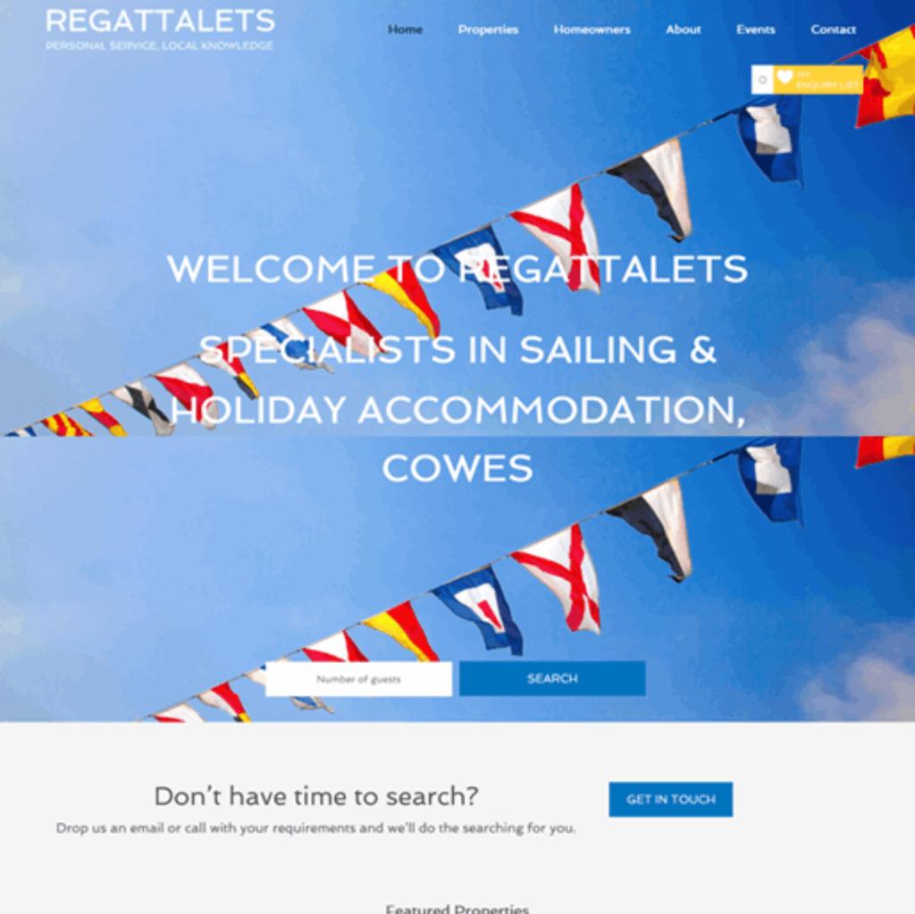 regattalets website screenshot