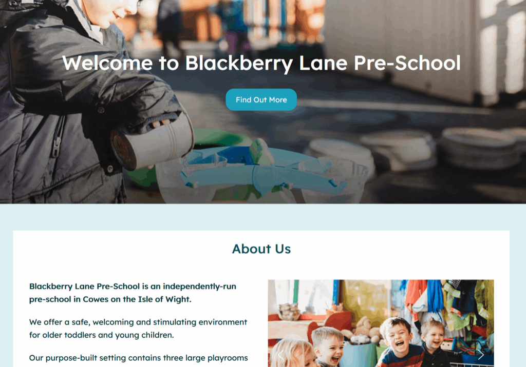 blackberry lane preschool & nursery screenshot